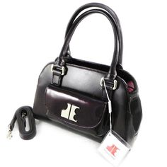 "Click Image Above To Purchase: Leather Bag ""jacques Esterel"" Burgundy."