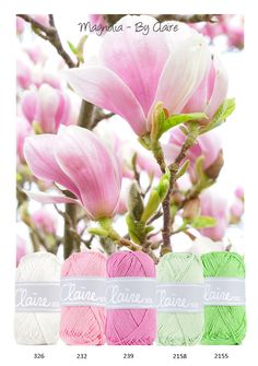 Kleurinspiratie Magnolia By Claire. Mooi kleurenpalet voor baby accessoires om te haken of te breien