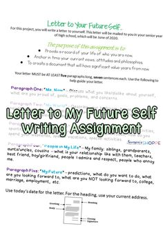 english assignments for high school