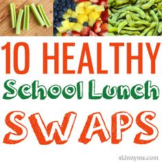Healthy school lunch ideas can be hard to come by.  These 10 Healthy School Lunch Swaps will help!  #healthy #school #lunch