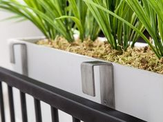 Our stainless steel deck rail brackets were designed with versatility, ease of use, and ultra-secure railing planters in mind. Oftentimes we find a planter box we love, but later realize we can't mount it to our deck rails. WindowBox.com will not stand for bare railings! These stainless steel brackets were designed to support window box planters like our composite PVC window boxes that have flat backs (Estate Series, direct mount boxes). They are compatible with all materials as ...