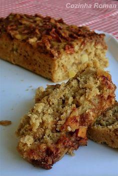 bolo de maçã com canela e aveia Chef Recipes, Sweet Recipes, Cooking Recipes, Healthy Recipes, Healthy Cake, Vegan Snacks, Love Food, Cravings, Food And Drink