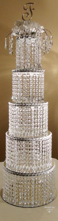 Crystal Wedding Cake Centerpieces | LOLO