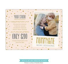 Mother's Day Mini Session template PSD Newsletter por birdesign