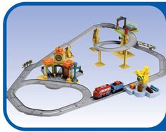 Trains that talk to each other via SmartTalk technology? Yes, please.  Chuggington Interactive Railway from Learning Curve/Tomy is a fun way for Chuggington fans to recreate the Koko, Brewster, Wilson and friends' adventures at home. As a former Chuggington Conductor, I vlogged about this set last year http://www.youtube.com/watch?v=cUCpqFIZiO0