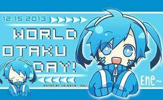 World Otaku Day, text, Miku, Vocaloid; Otaku