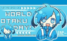 World Otaku Day, text, Miku, Vocaloid; Otaku