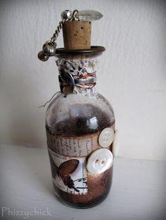 Butterfly Altered Art Bottle