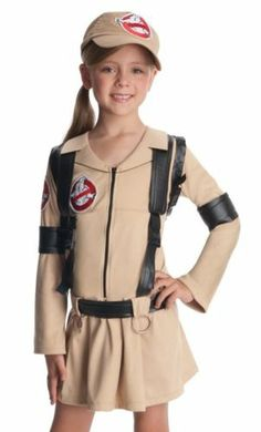 kids girls ghostbusters halloween costume dress the girls would love these