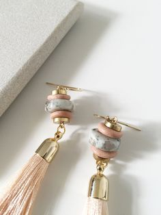 Silk Tassel Drop Earrings – curious creatures