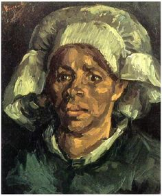 Painting, Oil on Canvas Nuenen, The Netherlands: May, 1885 Collection Mrs. M. C. R. Taylor Santa Barbara, California, United States of America, North America Gordina de Groot, Head  Van Gogh Gallery