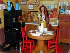 Jodie Doll + Country Kitchen. A Christmas morning gift in our house in the 70's.