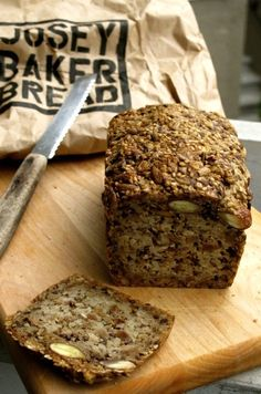 Bread A delicious, easy seeded gluten-free bread recipe from Josey Baker of The Mill in San Francisco.A delicious, easy seeded gluten-free bread recipe from Josey Baker of The Mill in San Francisco. Gluten Free Baking, Gluten Free Recipes, Bread Recipes, Vegan Recipes, Cooking Recipes, Quinoa Flour Recipes, Paleo Bread, Bread Baking, Vegan Gluten Free Bread