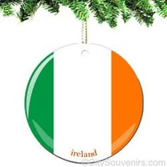 PorcelainIreland Ornament Exclusive! The charm and beauty ofIreland is captured in this new and original ornament. The iconicIrish Flaghas never looked so glorious.  We are proud to offer you t