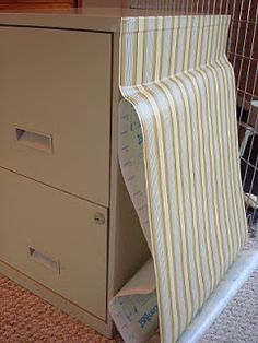 theblessedlife: file cabinet makeover with contact paper