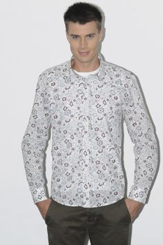 100% Cotton Printed Casual Shirt