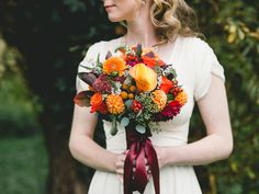 This fall bouquet highlights the season in the most beautiful way.
