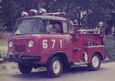Jeep Forward Control Turret Wagon Fire Truck