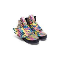 Men's Fashion and Style Aficionado Adidas x Jeremy Scott Spring 2010... ❤ liked on Polyvore featuring men's fashion, men's shoes, men's sneakers, shoes, sneakers, adidas, mens sneakers, mens shoes, adidas mens shoes and adidas mens sneakers