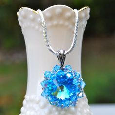 'Dawning Of Aquarius Swarovski Crystal Necklace' is going up for auction at  7pm Thu, Oct 4 with a starting bid of $20.