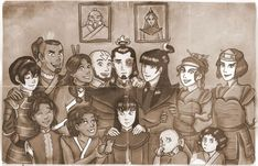 Team Avatar with their familys