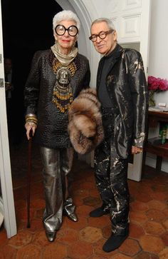 Iris Apfel  with her husband Carl. This will be me and Tom in the future.