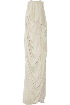 RICK OWENS Draped velvet gown. #rickowens #cloth #