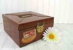 Industrial Metal Check File Box  Vintage Ballonoff by DivineOrders, $14.00