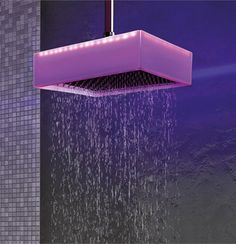 Ceiling Mounted Overhead Shower with Chromotherapy by Ponsi