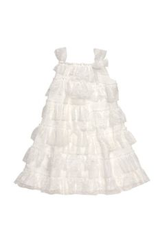 Amazon.com: Biscotti - Lace Embrace Girl's Lace and Netting Dress in Ivory: Clothing - Molly