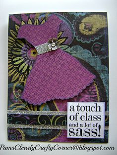 card by Pam Ellison using CTMH Laughing Lola paper