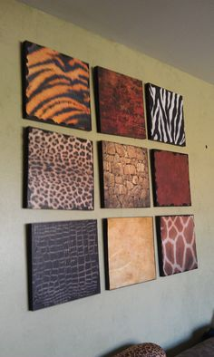 Living room with african decor use animal skin as wall for African skin decoration