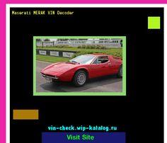 Maserati MERAK VIN Decoder - Lookup Maserati MERAK VIN number. 164351 - Maserati. Search Maserati MERAK history, price and car loans.