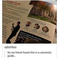 But Dan didn't graduate.....