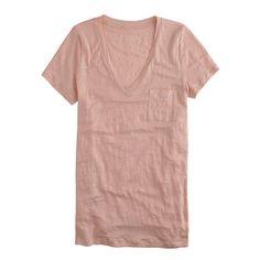 Linen V-neck pocket tee - short-sleeve tees - Women's knits & tees - J.Crew