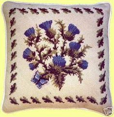 Julia Hickman Stitchery Scottish Thistle Needlepoint Kit