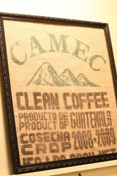 Coffee Sack Magnet Board