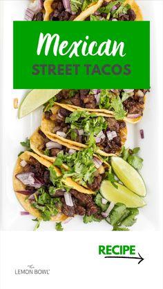 Cube Steak Recipes, Beef Recipes, Cooking Recipes, Street Tacos, Healthy Salad Recipes, Clean Recipes, Mexican Dishes, Mexican Food Recipes, Appetizer Recipes