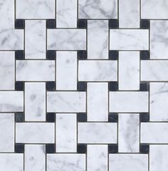 $12/sq ft. Arabescato Carrara With Black Marble Basket Weave Pattern Honed In A Mesh | Home Center Outlet