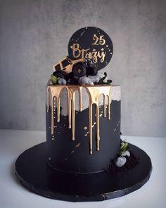 40th Birthday Cakes For Men, Cake Table Birthday, Birthday Cake Decorating, Beautiful Birthday Cakes, Beautiful Cakes, Amazing Cakes, Cake Design For Men, Buttercream Cake Designs, Round Cakes