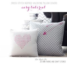 Easy DIY Cross-Stitch Pillow Tutorial | Join Kim Byers for lots of pics and step-by-step instructions!