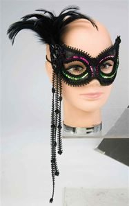 80s Neon Pink & Green Masquerade Mask - 246883 | trendyhalloween.com #masquerade #masquerademasks #halloweenmasks #halloween