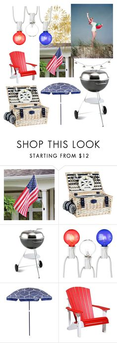 """Vintage Barbecue"" by funkykat345 ❤ liked on Polyvore featuring interior, interiors, interior design, home, home decor, interior decorating, Improvements, Dancook, Room Essentials and Sunnylife"