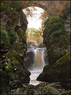 Upper end of the Falls of Foyer, Loch Ness