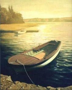Fishing boat painting.