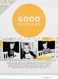 Good Morning *Main Kit Only* by Kelly Noel at @studio_calico - 8.5x11 layout