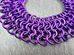 Chainmaille Bracelet Magenta European Weave