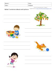 Creative Writing Worksheets, English Creative Writing, English Worksheets For Kids, 2nd Grade Worksheets, English Writing Skills, English Grammar For Kids, Teaching English Grammar, English Lessons For Kids, Picture Composition