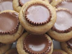 Reese's Peanut Butter Cup Cookies - these just scream Christmas to me - I guess you could make them any time