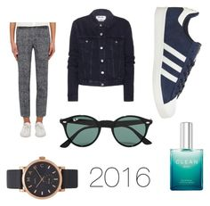 """""""2016"""" by fridasaaa on Polyvore featuring Acne Studios, Akris Punto, adidas, Ray-Ban, Marc by Marc Jacobs and CLEAN"""